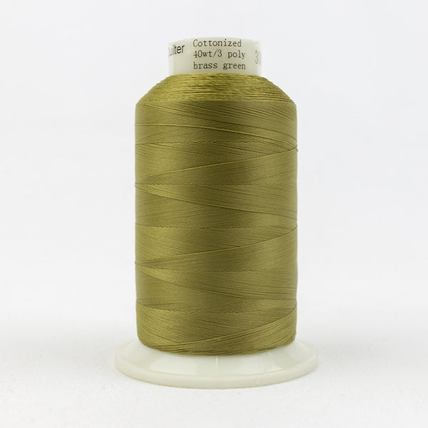 MQ27 - 40wt All Purpose Brass Green Thread - wonderfil-online-uk
