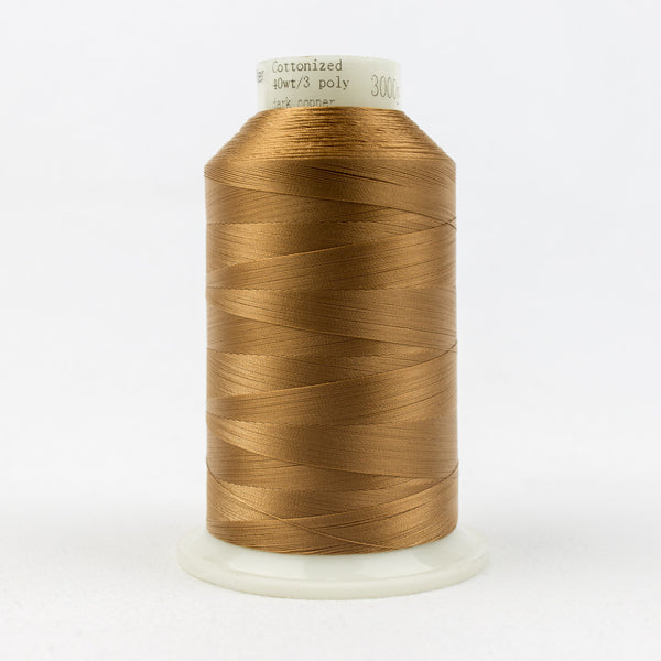 MQ58 - 40wt All Purpose Polyester Dark Copper Thread - wonderfil-online-uk