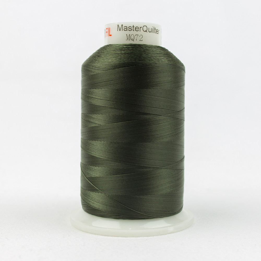 MQ72 - 40wt All Purpose Polyester Blackish Green Thread - wonderfil-online-uk