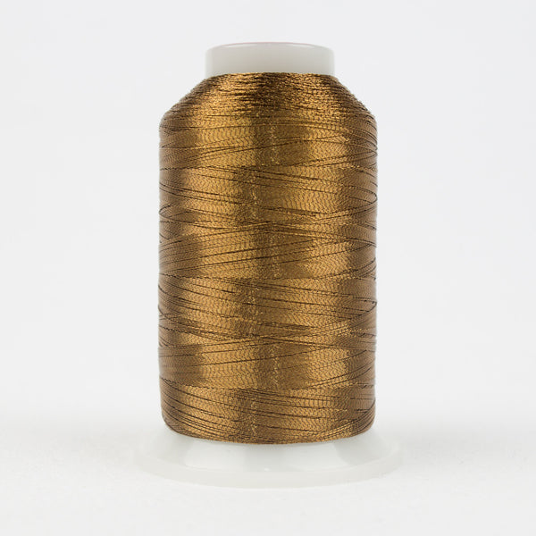 MT7723 - 40wt Metallic Soft Brown Thread - wonderfil-online-uk