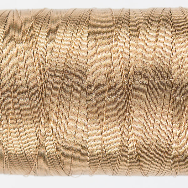 MT7730 - 40wt Metallic Soft Brown Thread - wonderfil-online-uk