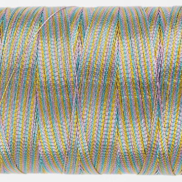 MT7731 - 40wt Metallic Pastel Variegated Thread - wonderfil-online-uk