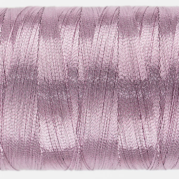 MT8837 - 40wt Metallic Soft Pink Thread - wonderfil-online-uk