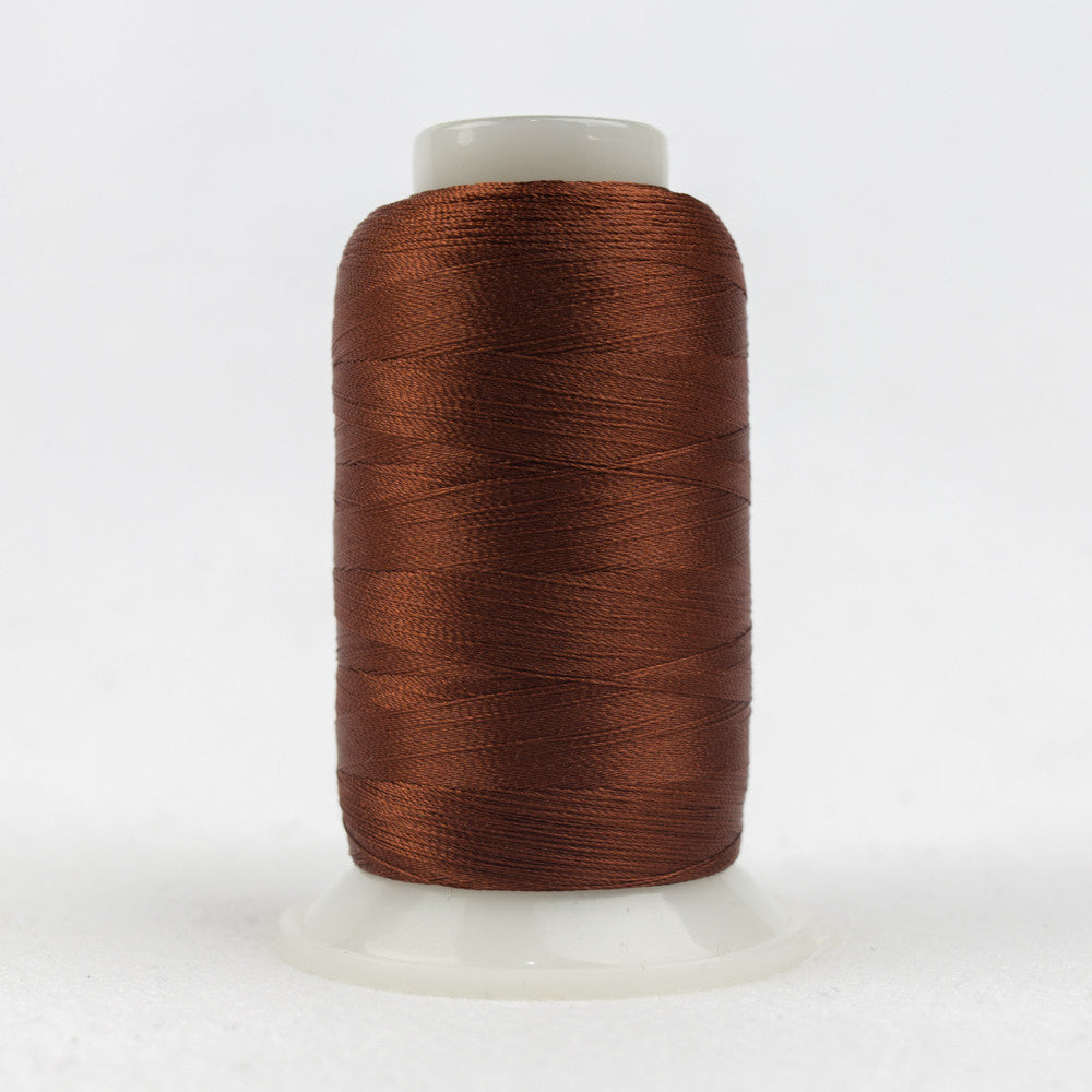 P4333 - 40wt Trilobal Polyester Dark Copper Brown Thread - wonderfil-online-uk