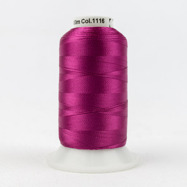 R1116 - 40wt Rayon Fuchsia Red Thread - wonderfil-online-uk
