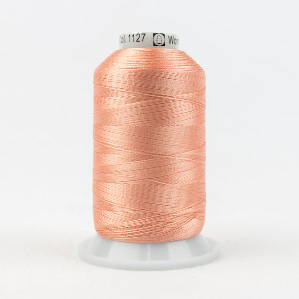 R1127 - 40wt Rayon Apricot Blush Thread - wonderfil-online-uk