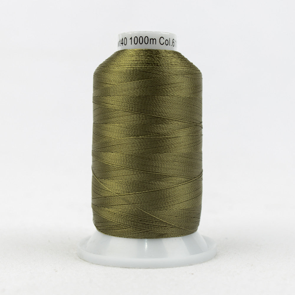 R6117 - 40wt Rayon Olive Drab Thread - wonderfil-online-uk