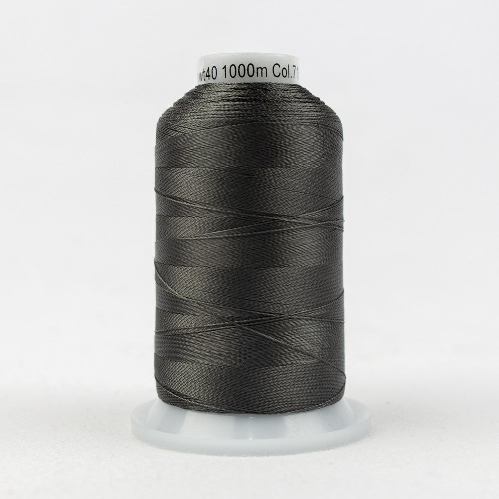 R7132 - 40wt Rayon Dark Gull Gray Thread - wonderfil-online-uk