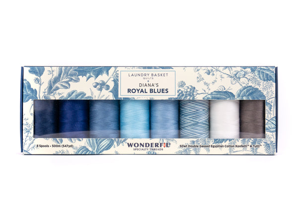 Diana's Royal Blues by Edyta Sitar - Egyptian cotton Thread Pack