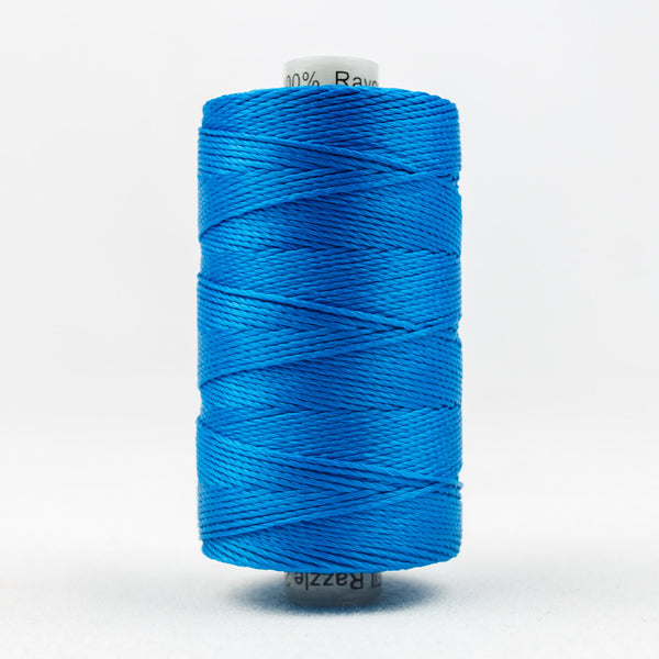 RZ148 - Razzle 6ply Rayon Mediterranean Blue Thread - wonderfil-online-uk