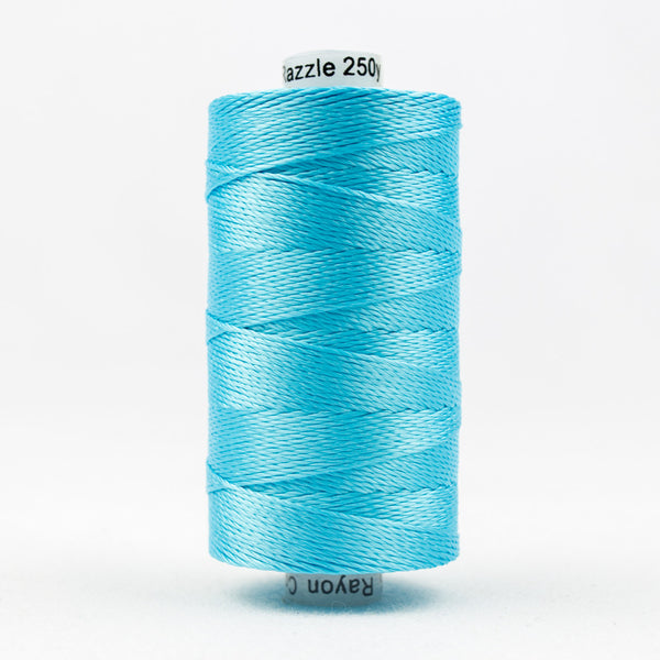 RZ3234 - Razzle 6ply Rayon Light Turquoise Thread - wonderfil-online-uk