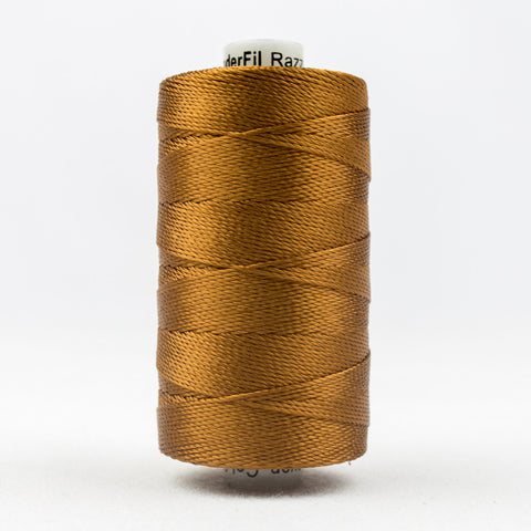 RZ330 - Razzle 6ply Rayon Acorn Brown Thread - wonderfil-online-uk