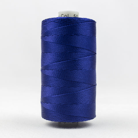 RZ50 - Razzle 6ply Rayon Dark Blue Thread - wonderfil-online-uk