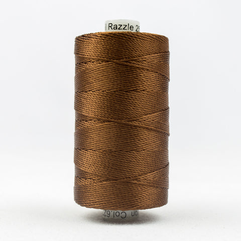 RZ6230 - Razzle 6ply Rayon Nutmeg Thread - wonderfil-online-uk