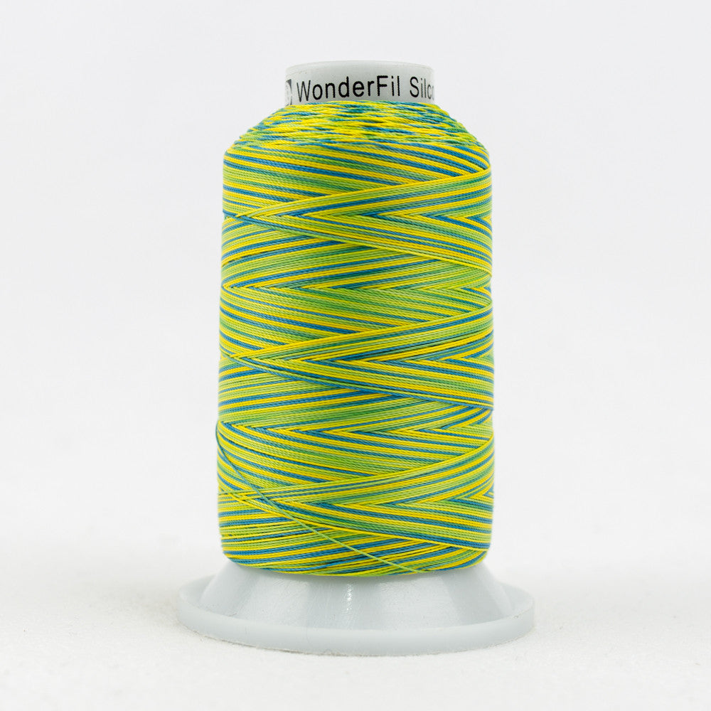 SCM22 - 35wt Cotton Blue Yellow Green Thread - wonderfil-online-uk