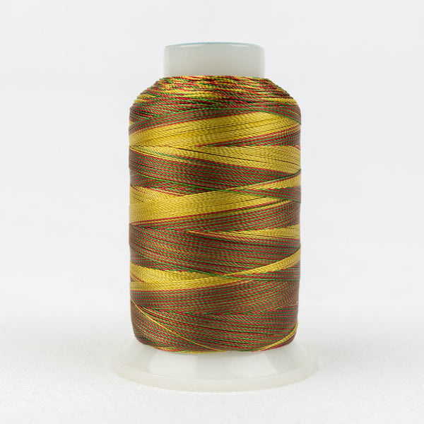SD27 - Mirage 30wt Rayon Green Honey Red Thread - wonderfil-online-uk
