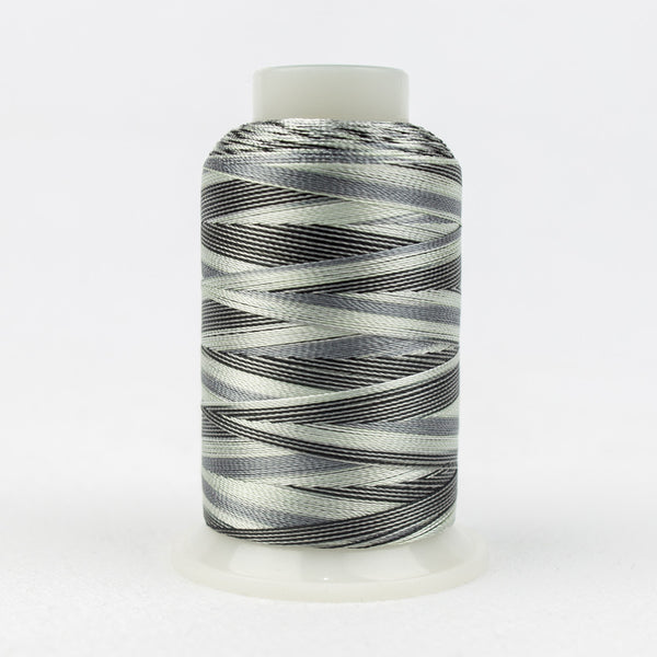 SD28 - Mirage 30wt Rayon Black Greys Thread - wonderfil-online-uk