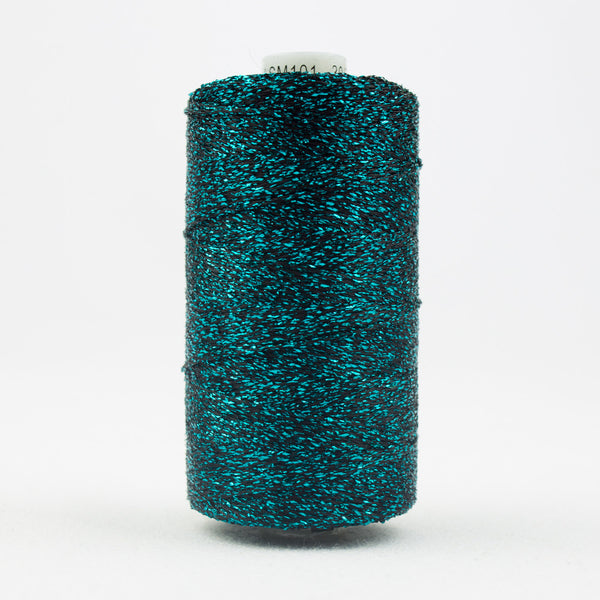 SM101 - Sizzle Rayon and Metallic Teal Thread - wonderfil-online-uk