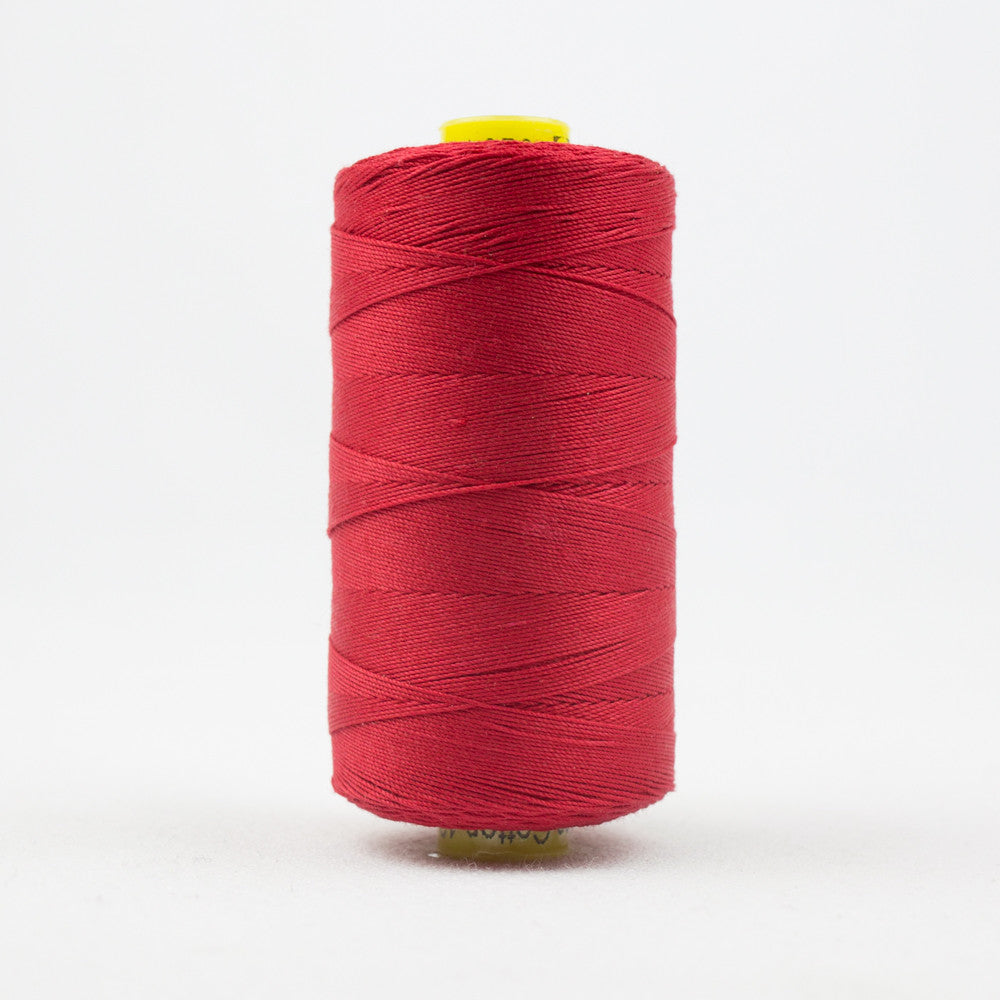 WonderFil Specialty Threads Spagetti 3-ply 100/% Long Staple Double-Gassed Egyptian Cotton 12wt Magenta