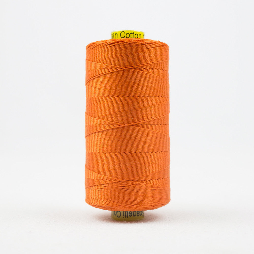 SP02 - Spagetti 12wt Egyptian Cotton Fun Orange Thread - wonderfil-online-uk