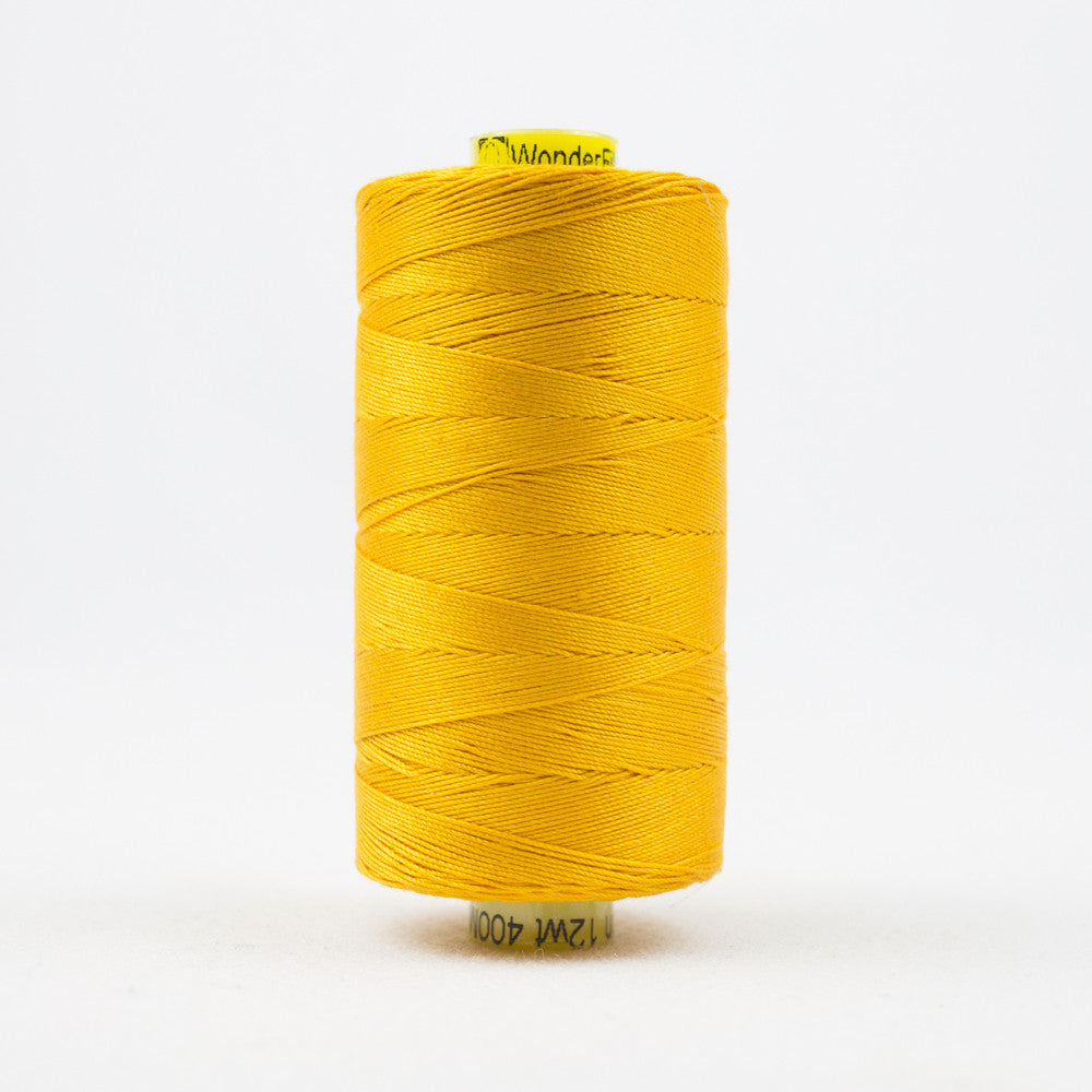 SP03 - Spagetti 12wt Egyptian Cotton Golden Yellow Thread - wonderfil-online-uk