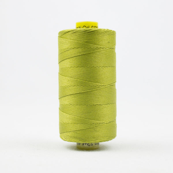 SP04 - Spagetti 12wt Egyptian Cotton Chartreuse Thread - wonderfil-online-uk