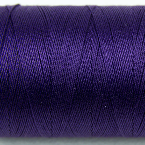 SP07 - Spagetti 12wt Egyptian Cotton Deep Royal Purple Thread - wonderfil-online-uk