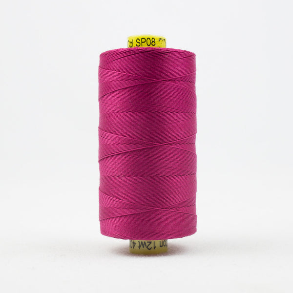 SP08 - Spagetti 12wt Egyptian Cotton Magenta Thread - wonderfil-online-uk