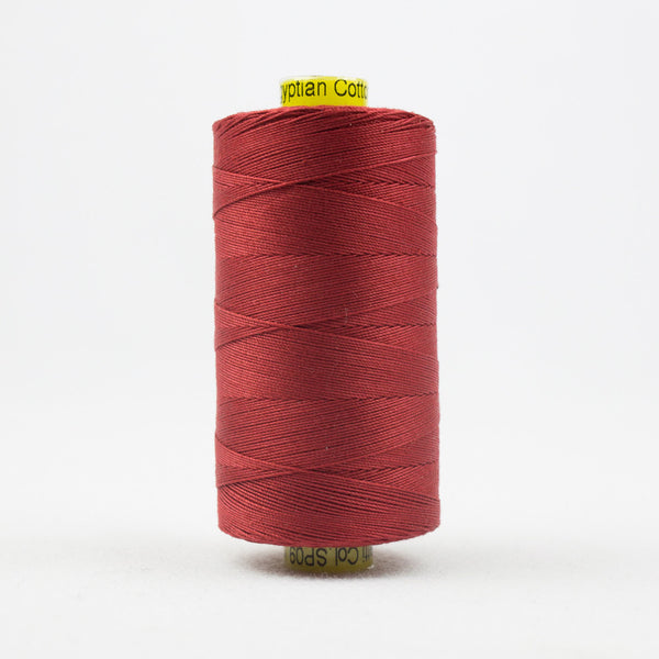 SP09 - Spagetti 12wt Egyptian Cotton Deep Rich Tomato Red Thread - wonderfil-online-uk