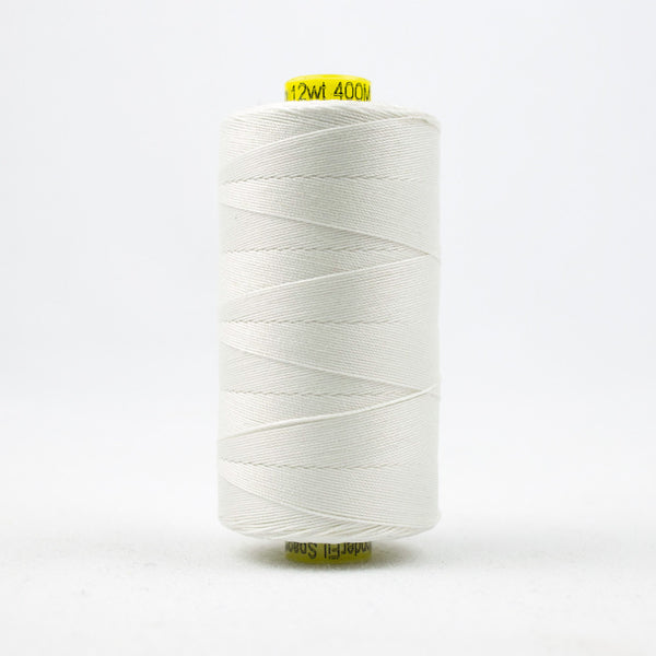 SP100 - Spagetti 12wt Egyptian Cotton White Thread - wonderfil-online-uk