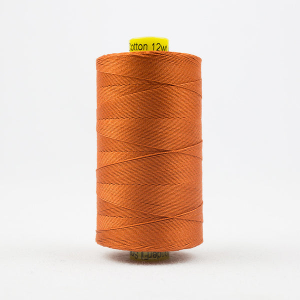 SP10 - Spagetti 12wt Egyptian Cotton Dark Pumpkin Thread - wonderfil-online-uk