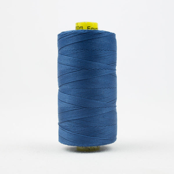 SP14 - Spagetti 12wt Egyptian Cotton Stormy Blue Thread - wonderfil-online-uk