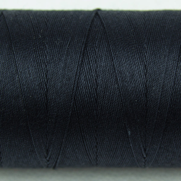 SP201 - Spagetti 12wt Egyptian Cotton Soft Black Thread - wonderfil-online-uk