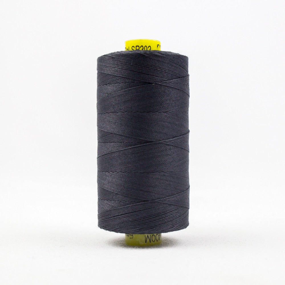 SP202 - Spagetti 12wt Egyptian Cotton Charcoal Thread - wonderfil-online-uk