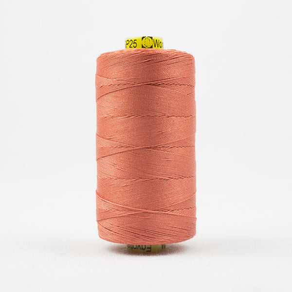 SP25 - Spagetti 12wt Egyptian Cotton Peach Thread - wonderfil-online-uk