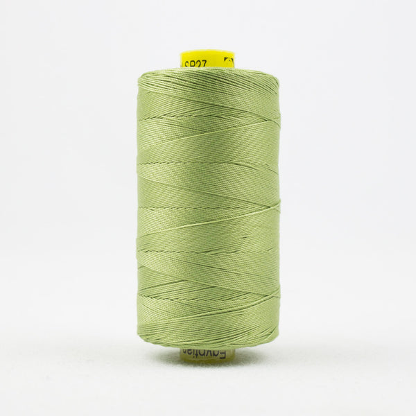 SP27 - Spagetti 12wt Egyptian Cotton Soft Green Thread - wonderfil-online-uk