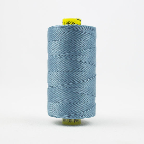 SP28 - Spagetti 12wt Egyptian Cotton Soft Blue Thread - wonderfil-online-uk