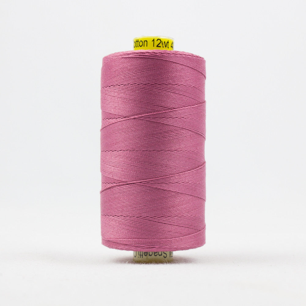 SP30 - Spagetti 12wt Egyptian Cotton Dusty Pink Thread - wonderfil-online-uk