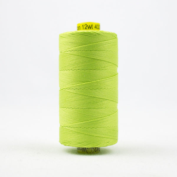 SP42 - Spagetti 12wt Egyptian Cotton Light Spring Green Thread - wonderfil-online-uk