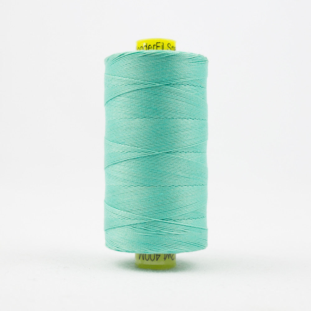 SP48 - Spagetti 12wt Egyptian Cotton Seafoam Green Thread - wonderfil-online-uk
