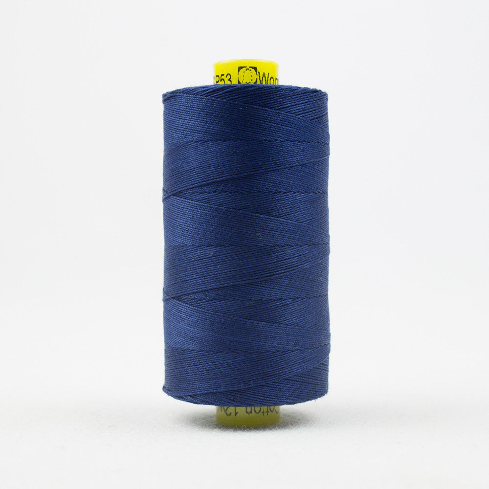 SP53 - Spagetti 12wt Egyptian Cotton Bright Navy Thread - wonderfil-online-uk