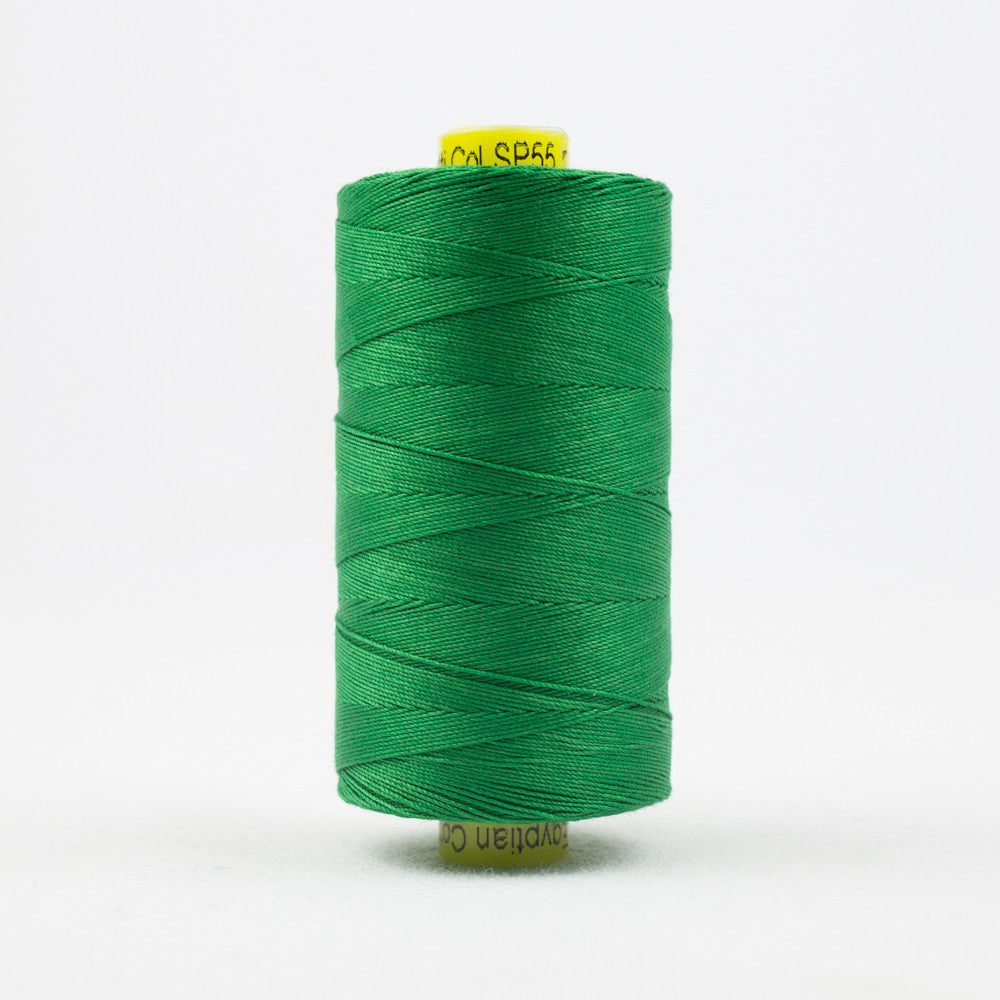 SP55 - Spagetti 12wt Egyptian Cotton Grass Green Thread - wonderfil-online-uk