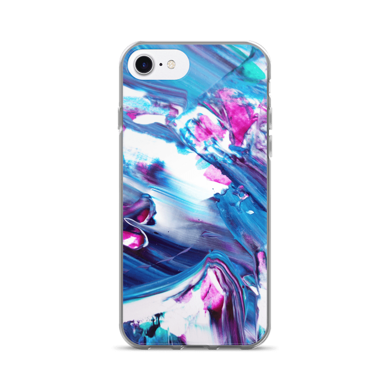 Acrylic blue iPhone case