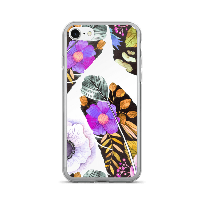 Purple feather iPhone case