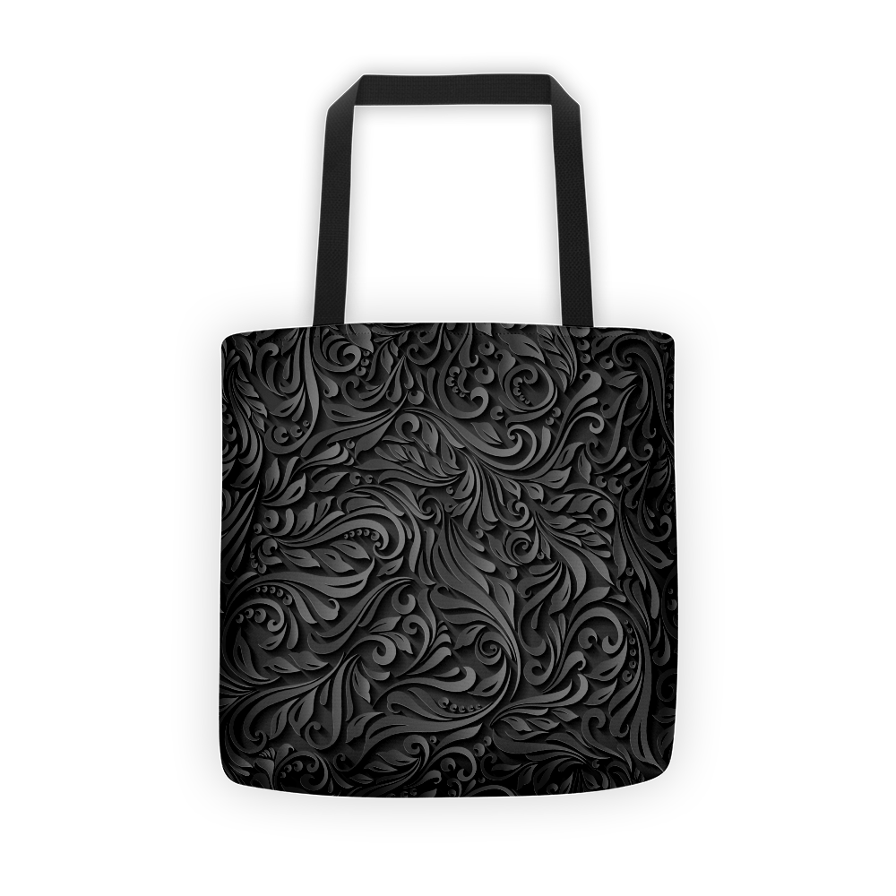 Black vine Tote bag