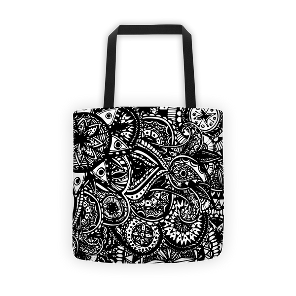 Black Veritas Tote bag