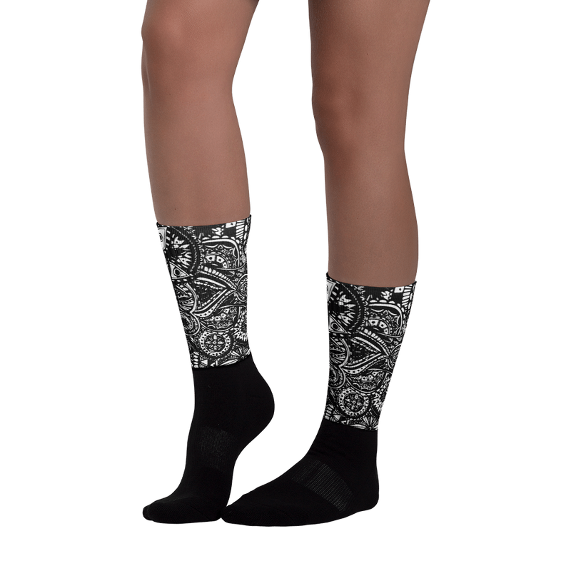 Black Veritas Black foot socks
