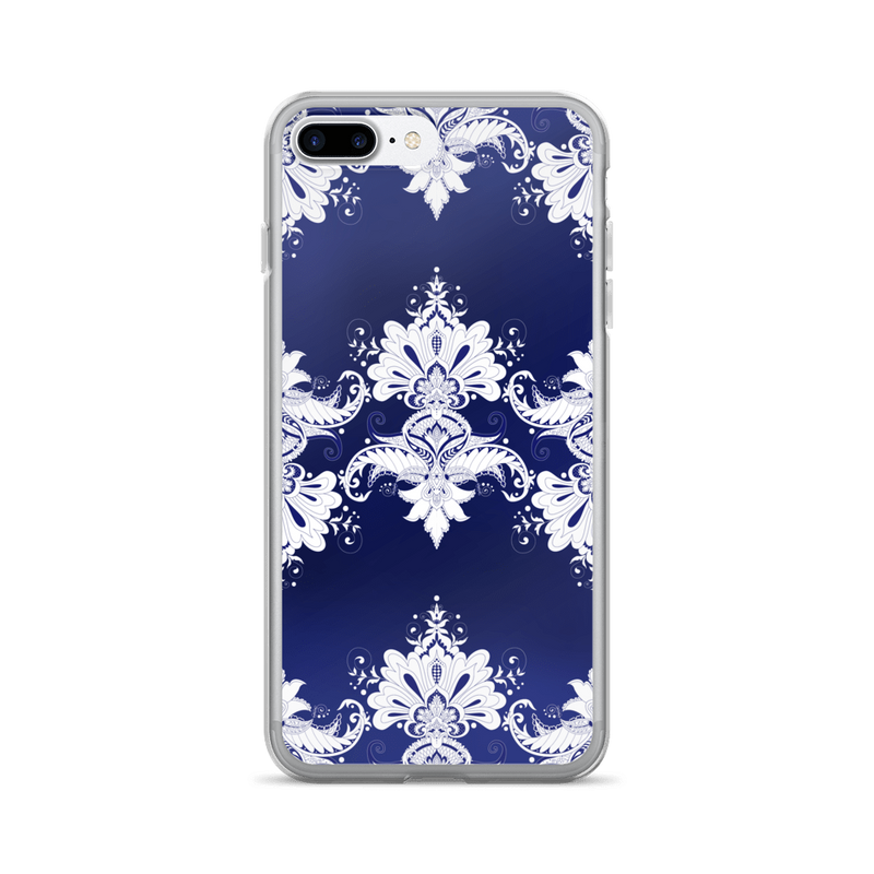 Blue white flow iPhone case
