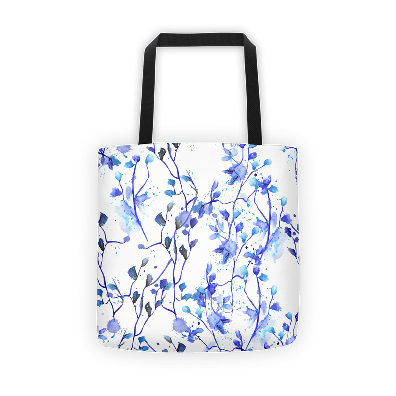 Blue vine Tote bag