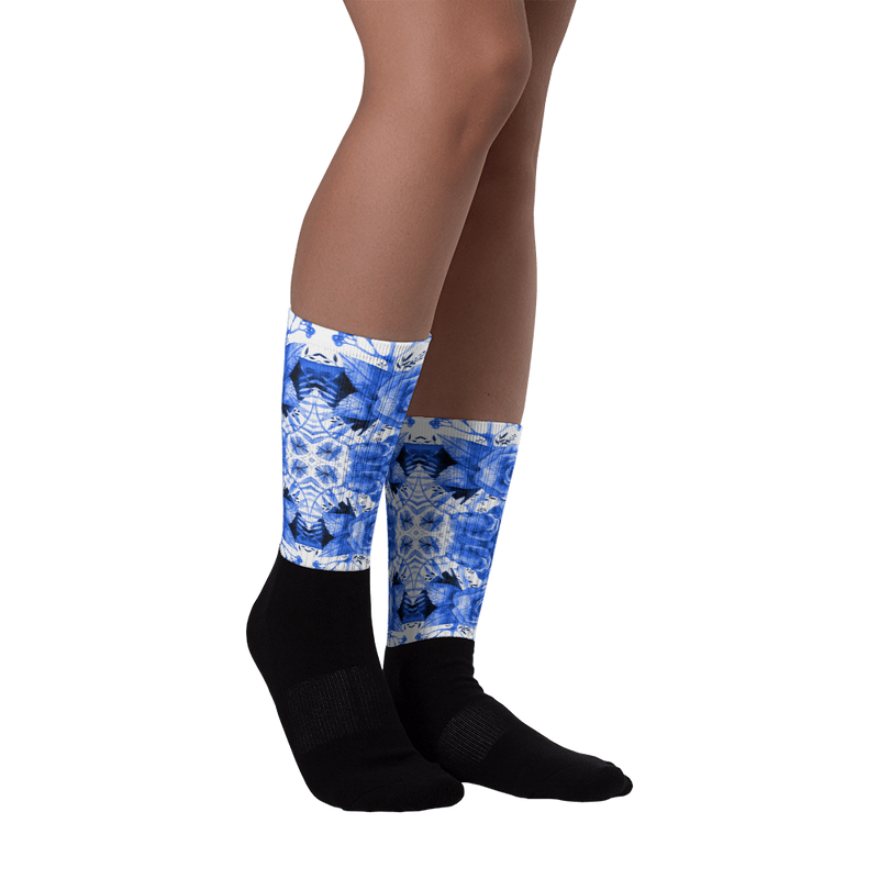 Boherian floral Black foot socks